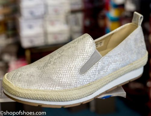 Womens soft shimmer faux leather leisure slip on  shoe